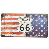 Placa Metal Vintage - Texas