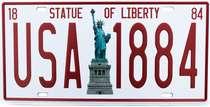 Placa Metal Vintage - USA 1884