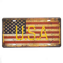 Placa Metal Vintage - USA