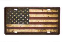 Placa Metal Vintage - USA Flag