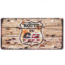 Placa Metal Vintage - U.S Route 66
