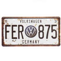 Placa Metal Vintage - Volkswagen 1937