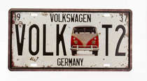 Placa Metal Vintage - Volkswagen Germany