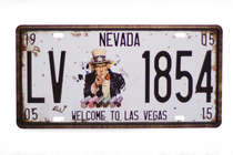 Placa Metal Vintage - Welcome to Las Vegas