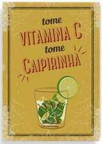 Placa Metal Vitamina C  - 21 x 30 cm