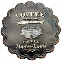 Placa Metal - Coffee - 30 cm