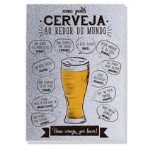 Placa Metal - Como Pedir Cerveja
