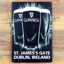 Placa Metal 40x30 cm - Guinness