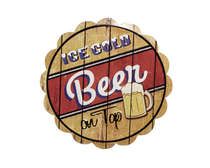 Placa Decorativa Metal - Ice Cold Beer on Top
