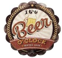 Placa Decorativa Metal - It´s Beer O´clock