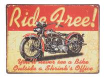 Placa Metal - Ride Free