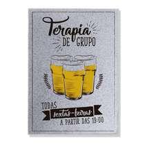 Placa Metal - Terapia Cerveja