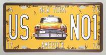 Placa Metal - US NO1 New York