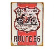 Placa Metal - US Route 66
