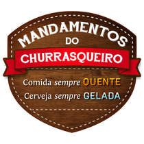 Placa PVC - Mandamentos do Churrasqueiro