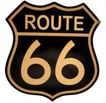 Placa Artesanal Laqueada- Route 66