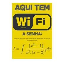 Placa de MDF - Aqui tem WiFi - Fórmula