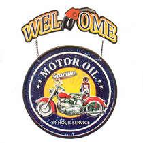 Placa de Metal Motor Oil 24 Service