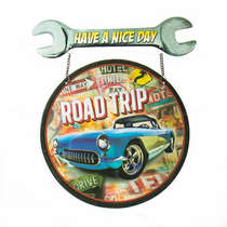 Placa de Metal Road trip