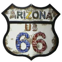 Placa Metal Vintage Arizona 66