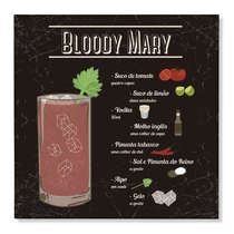 Placa Decorativa em Metal Bloody Mary - 20x20cm
