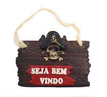Placa de Resina - Seja Bem Vindo - Pirata