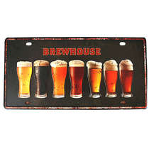 Placa de metal - Brewhouse  - 31x15 cm