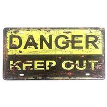 Placa Metal Vintage - Danger