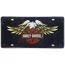 Placa Metal Vintage - Harley Davidson