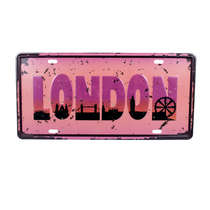 Placa Metal Vintage - I love London