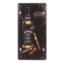 Placa de metal - Jack Daniels Tabacaria Nacional  - 31x15 cm