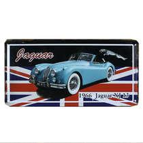 Placa Metal Vintage - Jaguar 1966