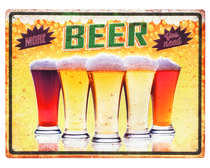 Placa Decorativa de Metal 30 x 40 cm - More Beer