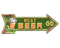Placa Decorativa de Metal 14 x 40 cm - Best Beer