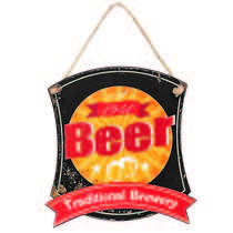Placa Decorativa de Metal 32 x 30 cm - Traditional Brewery