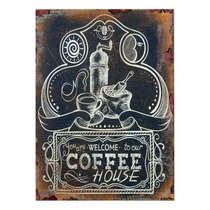 Placa em MDF Coffee House- 40x30cm