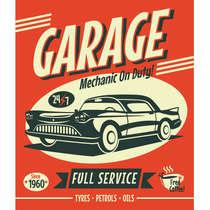 Placa em MDF G- Garage Full Service - 44x62 cm