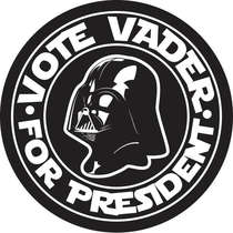 Placa MDF Vader President - 28 x 28 cm