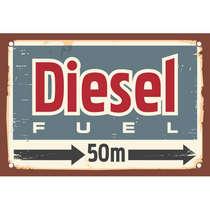 Placa MDF  Diesel 28 x 42 cm
