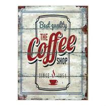 Placa em MDF The Coffee Shop - 40x30cm