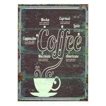 Placa em MDF Tipos de Café - 40x30cm