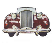 Placa em MDF - Old Car