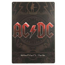 Placa em MDF - ACDC Black Ice