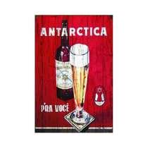 Placa em MDF - Antarctica retrô - 28x21cm