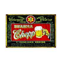 Placa em MDF - Brahma Chopp Cervejaria - 28x21cm