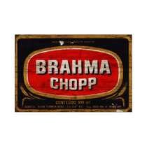 Placa em MDF - Brahma Chopp logo - 28x21cm