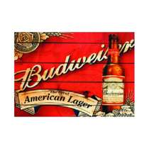Placa em MDF - Budweiser American Lager