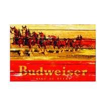 Placa em MDF - Budweiser Horses - 28x21cm