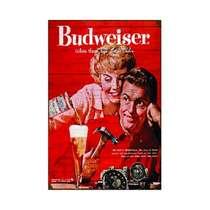 Placa em MDF - Budweiser there´s Bud