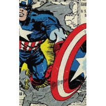 Placa em MDF - Capitão América - 44x62 cm